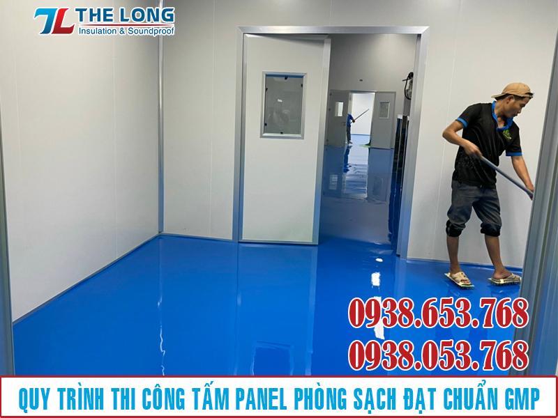 Quy Trình Thi Công Panel Phòng Sạch Theo Tiêu Chuẩn Gmp